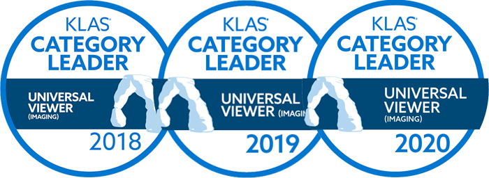 KLAS 2018, KLAS 2019 and KLAS 2020 Category leader logos