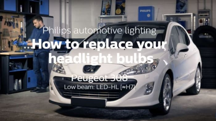 How to replace Peugeot 308 headlight bulbs